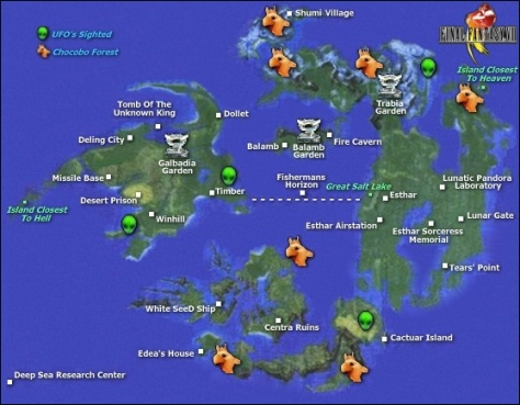 Final Fantasy VIII / FFVIII / FF8   World Map